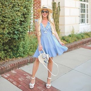 Dresses & Skirts - Seersucker ruffled dress
